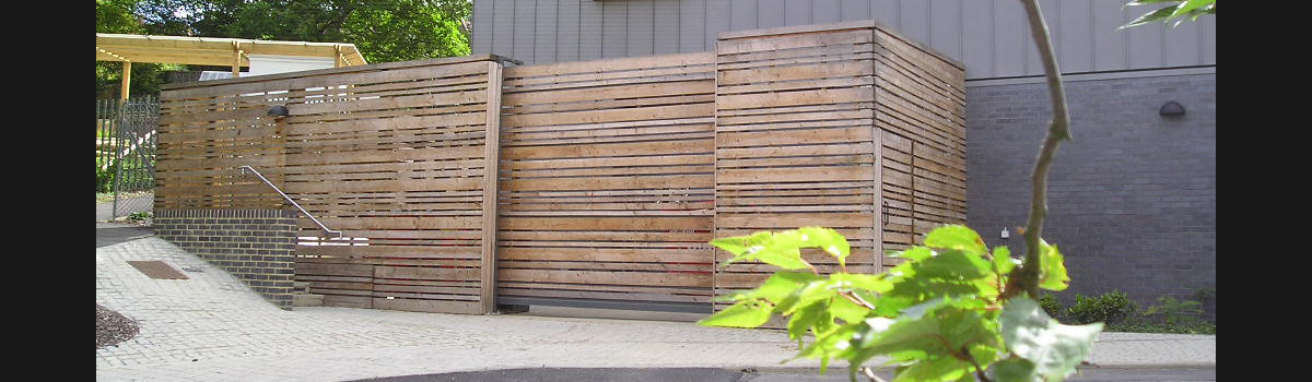 Wooden Infill Sliding Gates