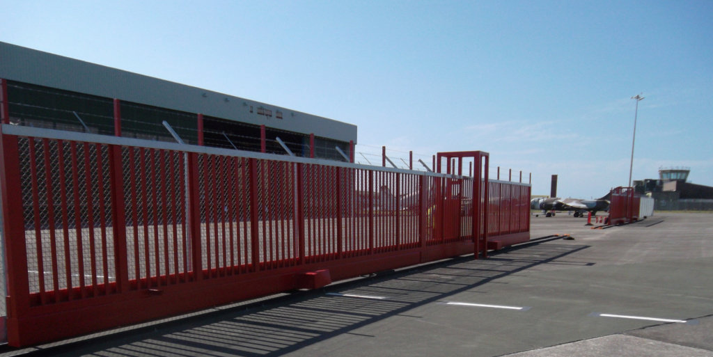 Taxiway Gates Newquay Airport