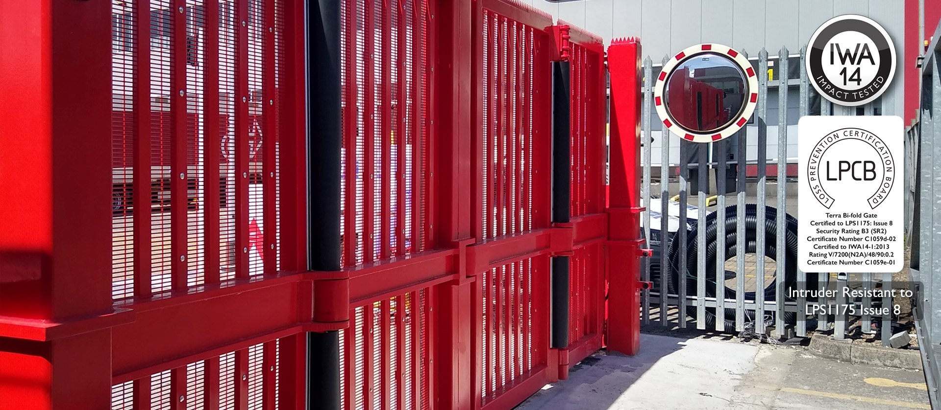 Frontier Pitts IWA14 & LPS1175 Terra Bi-folding Gate